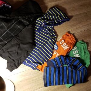 Other - Boys LOT size 7 - size 8 reversible hoodie, 5 tops